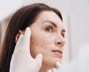 Woman Beign Examined for a Facelift NYC